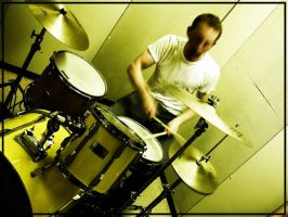 Drumming Away by sillylittleidiot