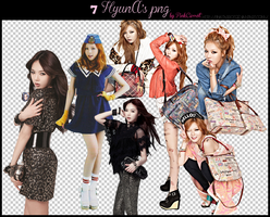 HyunA pngs Pack by PinkCarrot