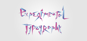 Experimental Typography by rikketik