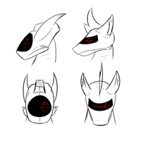 Mech Head Concepts by DJP15