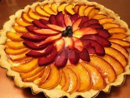 Peach, Plum + Nectarine Tart by LoveandConfections
