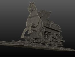 Trojan steam locomotive4 by tesherr