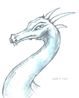 Simple Dragon (Head) Sketch by Auxuris
