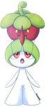 A New Friend - Bounsweet and Ralts by Sitrophe