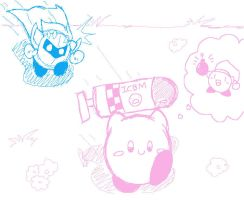 bomb kirby doodle by metamorro