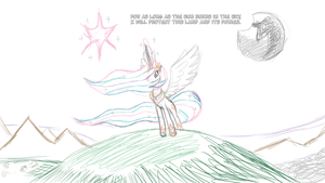 Celestia's Resolve sketch by feather-chan