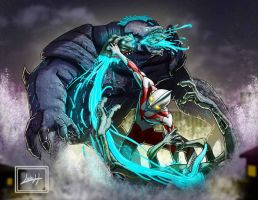 Ultraman and Pacific Rim by LeadApprentice