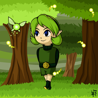 WW Saria - Walk in the Forest by Zaziki7