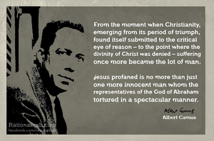 Albert Camus on Christianity.. by rationalhub