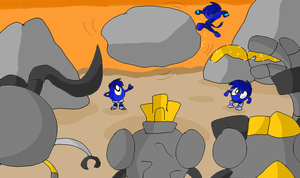 A Game of Rock Toss!!! by BeansTheCat
