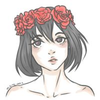 Flower Crown Mikasa by Hopiamanipopcorn