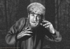 Lon Chaney as the Wolfman by dominiquefam