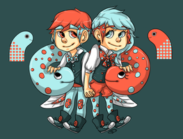 Eel Twins by honeysips