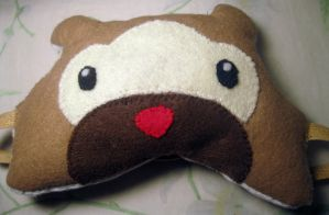 Bidoof Sleep Mask by Eirianna