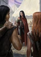 Arawn and Cerridwen captured by Siena by dashinvaine