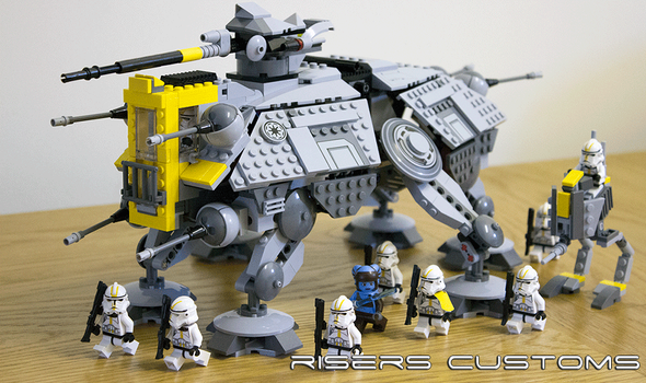 Lego Star Wars Custom Republic 327th AT-TE / AT-RT by Riser38