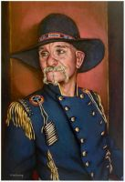 Pistol Pete..oil on linen canvas by xxaihxx