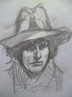 Tom Baker Fourth Doctor by seanwaterfield