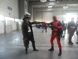Pyrkon 2013 - Steam fist with Deadpool by Maroventolo