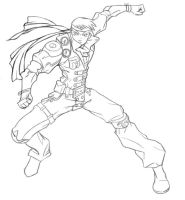 Jin uncoloured version by rizal82