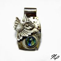 Steampunk Owl Pendant by Create-A-Pendant
