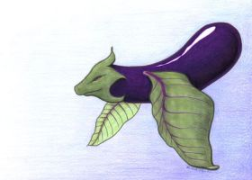 Aubergine Dragon by ankewehner