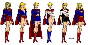 The Many Faces of Supergirl by billiebob72088