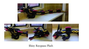 Shiny Rayquaza Plushie by NinfiaPlushies