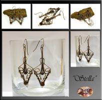Stella- wire wrapped earrings by mea00