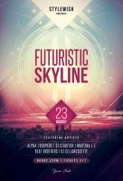 Futuristic Skyline Flyer by styleWish