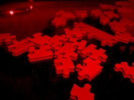 Puzzle in Red by Neelima