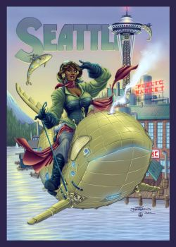 Seattle ComiCon - Collaboration with Terry Dodson by AutodidactArtAcademy