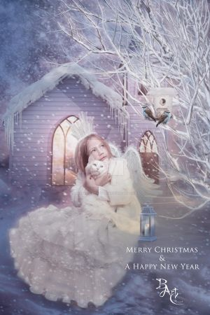 Christmas Angel HNY 2015 by babsartcreations