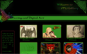 Celtic Wings Gallery CSS by JeffrettaLyn