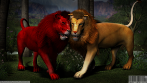 Red Lion Meets Elvish Lion by KnucklesTheEchidna53