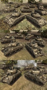 Sherman M4  M4A3(76)  EasyEight  Jumbo 105mm Croc  by rainamechan