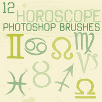 Horoscope Photoshop Brushes by chokingonstatic