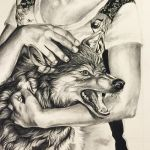 Lady with Wolf by Lucky978