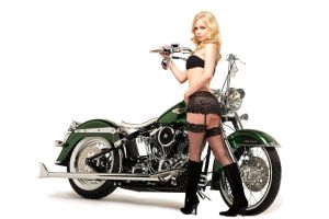 Hot Girl, Custom Bike by 24pack