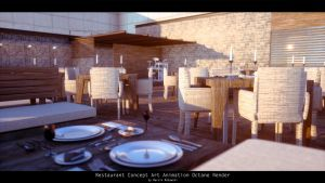 test Render Restaurant 8d Octane Render And Blende by str9led
