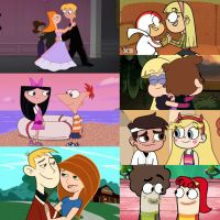 A collage of animated Disney TV pairings by WG2020TV