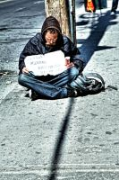 Homeless:  Hungry by basseca