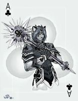 Ace of Clubs by paleocat