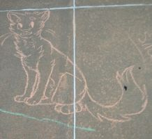 I drew on the driveway by captainhomo