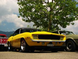 yellow Camaro by AmericanMuscle