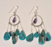 Turquoise Chandelier Earrings by lamorth-the-seeker