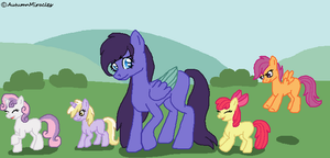 Amethyst the Foal-sitter by AutumnMiracles