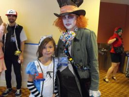 Mad Hatter and Alice cosplays by AbbieGoth