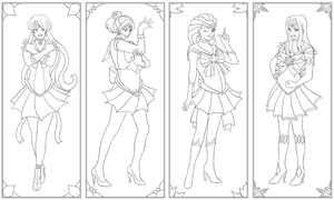 Sailor Seasons (lines) by violetice