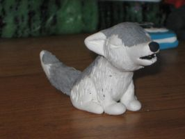 Wolf Sculpture by CrazyMeliMelo